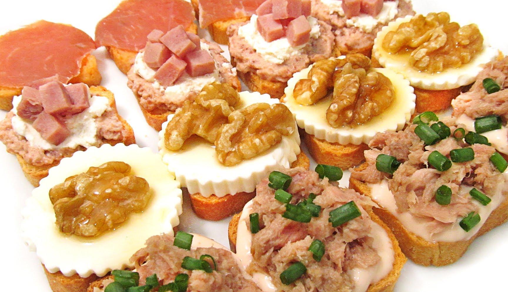 Canap s variados para fiestas ok recetas - Platos originales y sencillos ...